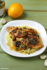 Chicken Piccata with Zucchini Noodles | StrictlyDelicious.com