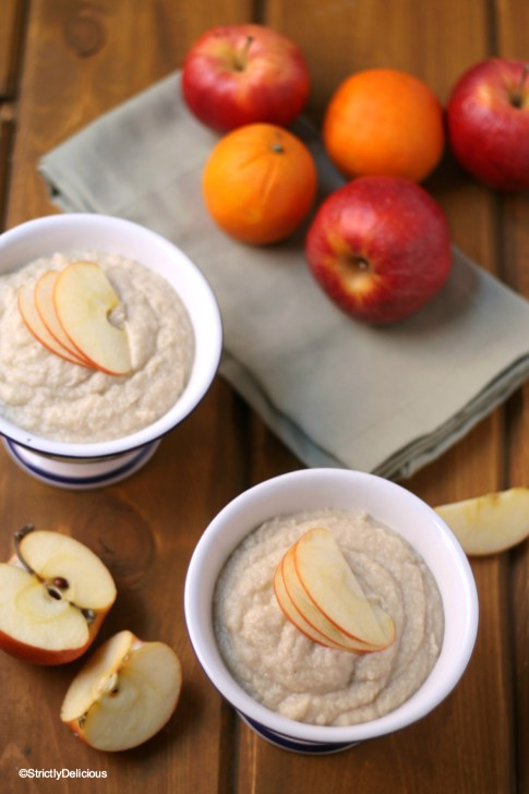 Maple Brown Sugar N'Oatmeal. A tasty grain-free, coconut-free hot breakfast porridge! | StrictlyDelicious.com
