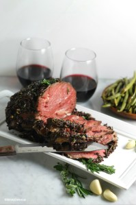 Tapenade Crusted Lamb | StrictlyDelicious.com