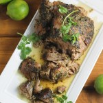 Slow Cooker Cilantro Lime Pork Shoulder | StrictlyDelicious.com