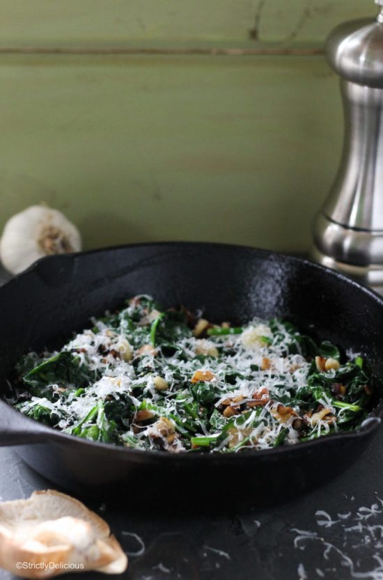 Super Savory Sautéed Spinach | StrictlyDelicious.com