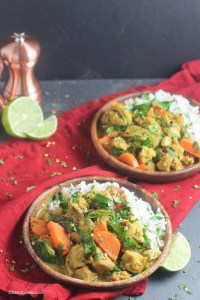 Easy Fridge-Dump Coconut Curry | StrictlyDelicious.com