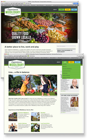 Experience Middlebury web site