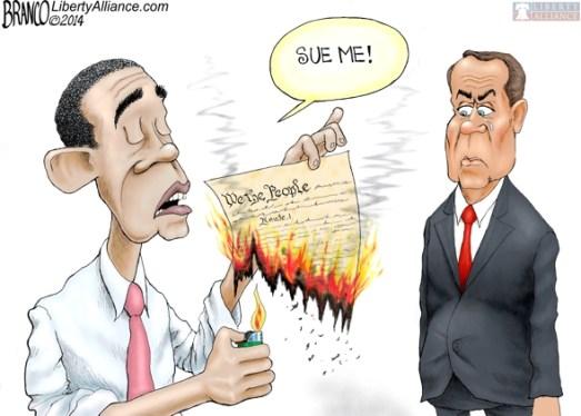 Obama sue me Boehner
