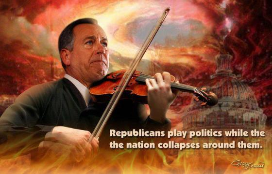 John Boehner fiddles while country burns