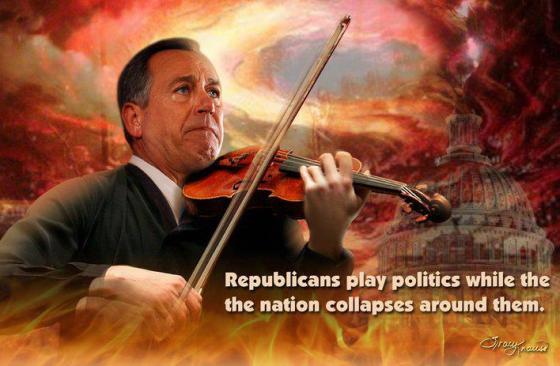 John Boehner fiddles while country burns