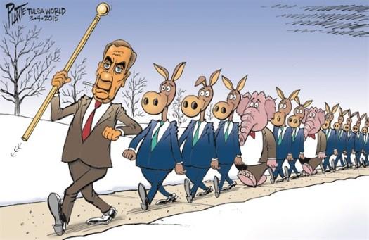 John Boehner leads Democrat parade