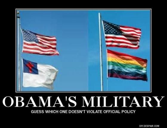 Obama's military flags