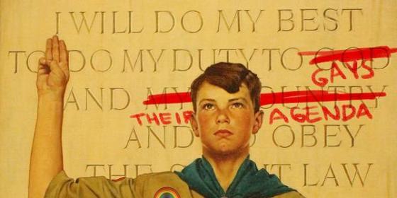 Boy Scouts homosexual oath