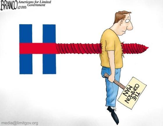 Hillary Clinton screws the common man
