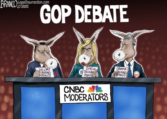 CNBC moderators GOP debate