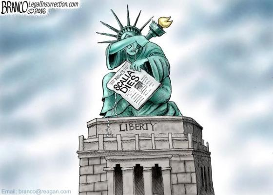 Statue of Liberty - Scalia Dies