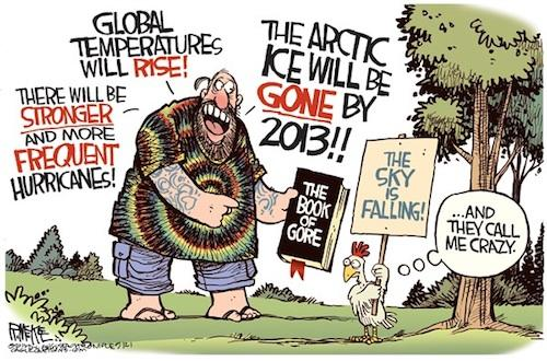 Global warming - Predictions Chicken Little