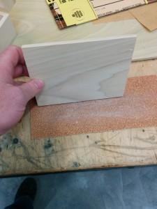 Sanding sanding sanding