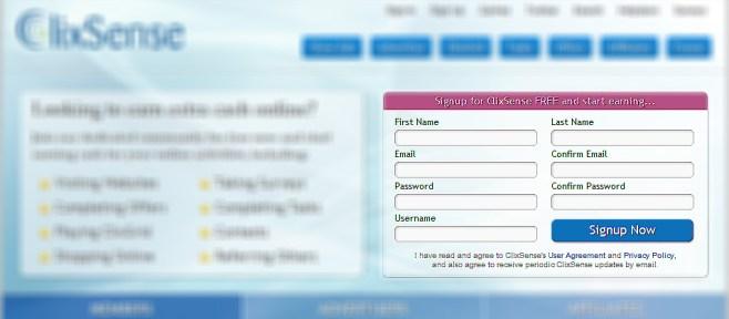 Clixsense Registration