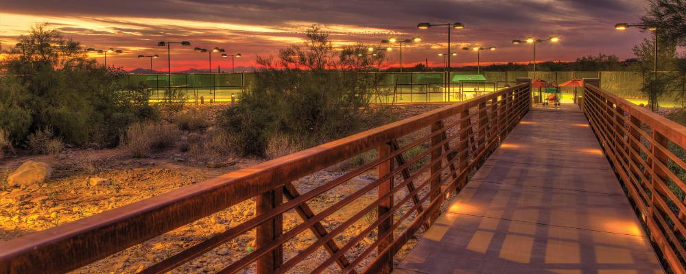 Bridge to Tennis Court