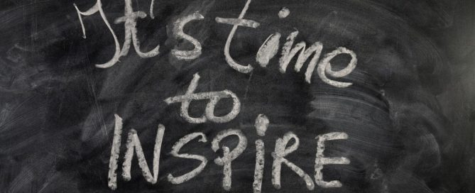 It's Time to Inspire Chalkboard