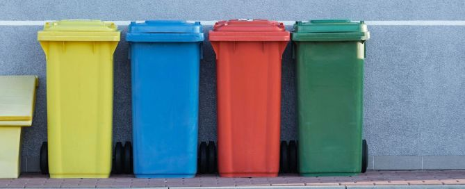 Colored Trash Bins