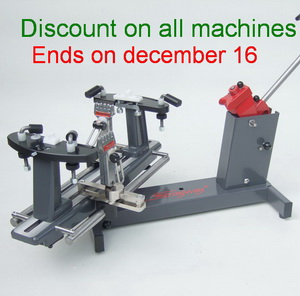 11 % discount on all machines on stock