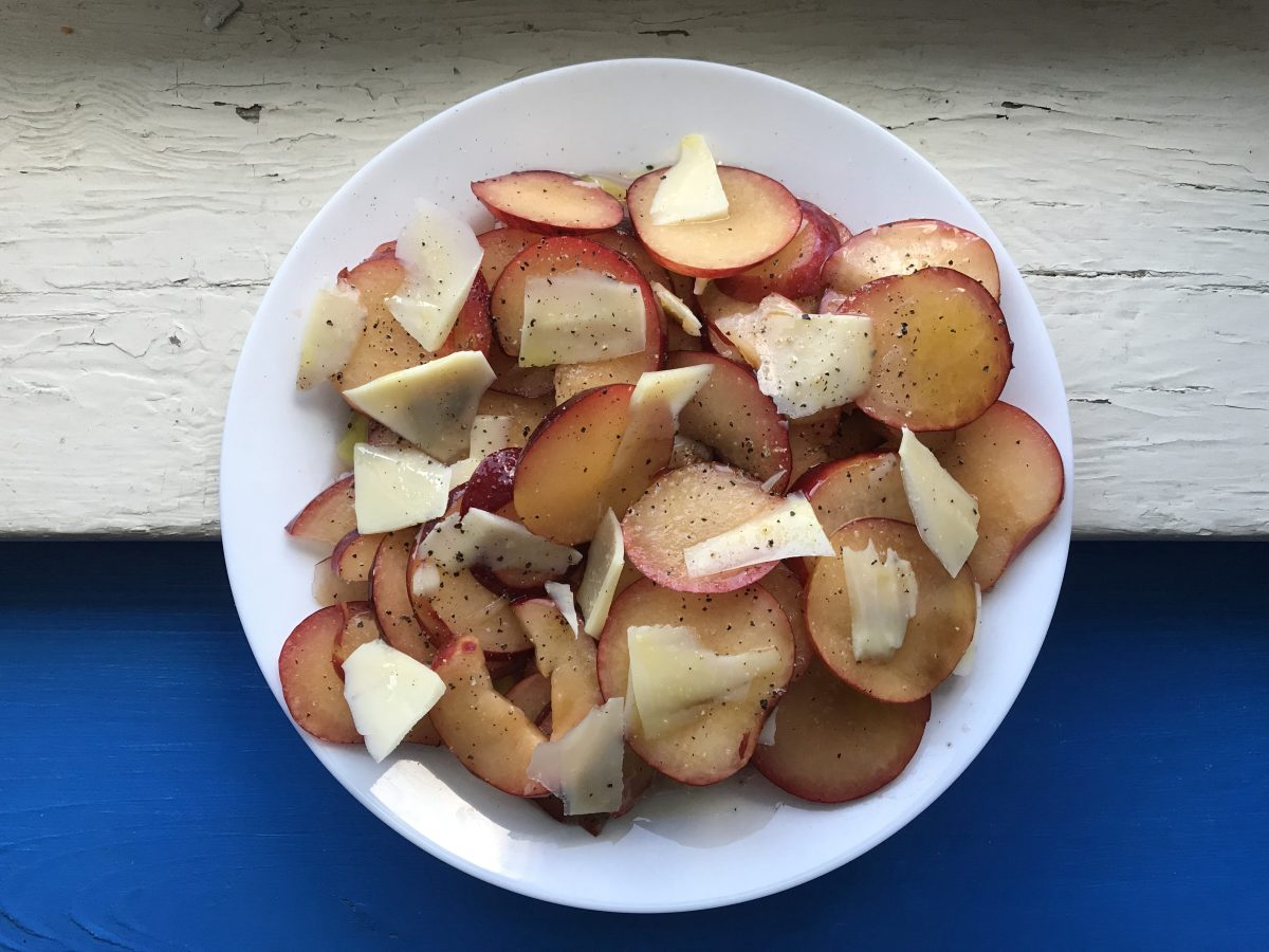 Bon Apetit, August: Plum Salad with Parmesan and Black Pepper