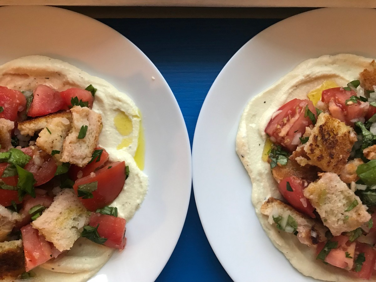 Bon Appetit, September: Fried-Bread Panzanella with Ricotta and Herbs