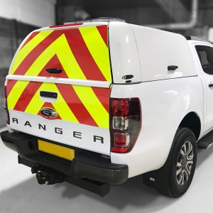 Ford Ranger with chapter 8 chevrons applied to rear