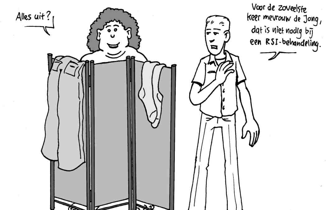 Cartoons voor het periodiek van het KNGF