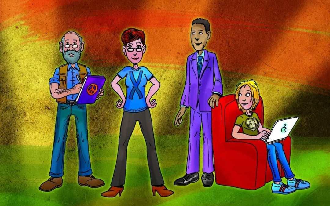 Illustratie schooljournaal generaties onderwijzend personeel