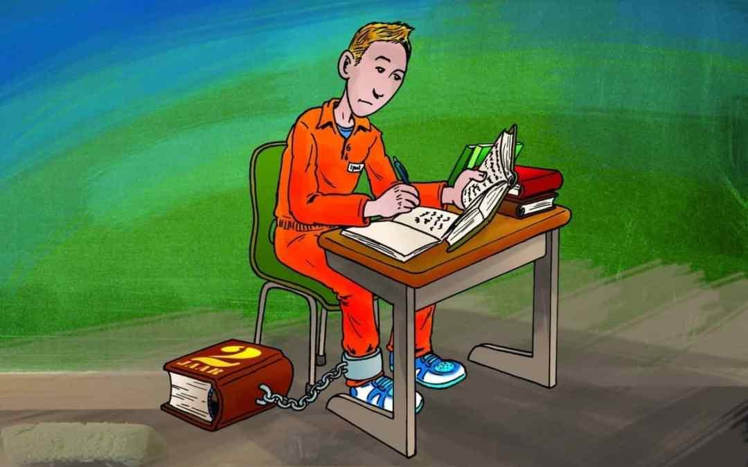 Illustratie Schooljournaal over schoolverplichting jong gedetineerden