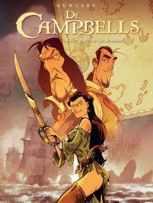 Campbells 4, Campbells, Goud, Brandamo, Dupuis, Munuera, vier, strip, stripboek, stripverhaal, piraten, kopen, bestellen