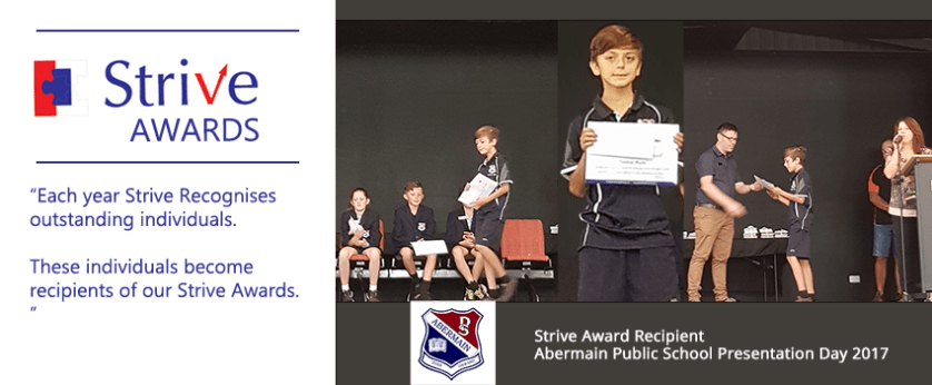 Abermain Public School Strive Award - Presentation Day