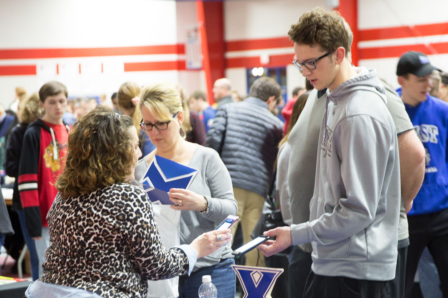College rep barcode scanning at college fair