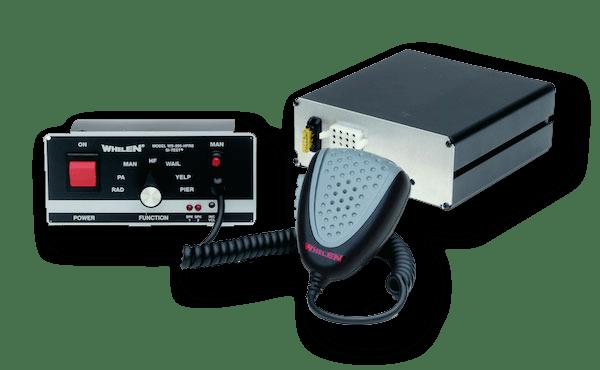 whelen remote handsfree siren amplifier with flush mount head   strobesnmore