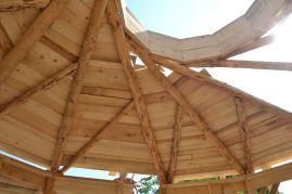 Reziprokes Dach Strohballen Rundhaus