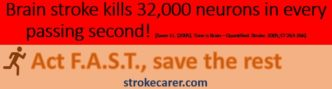 Stroke kills 32,000 every second.