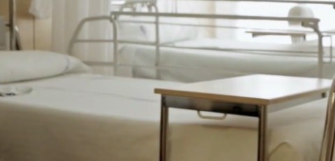 a hospital bed