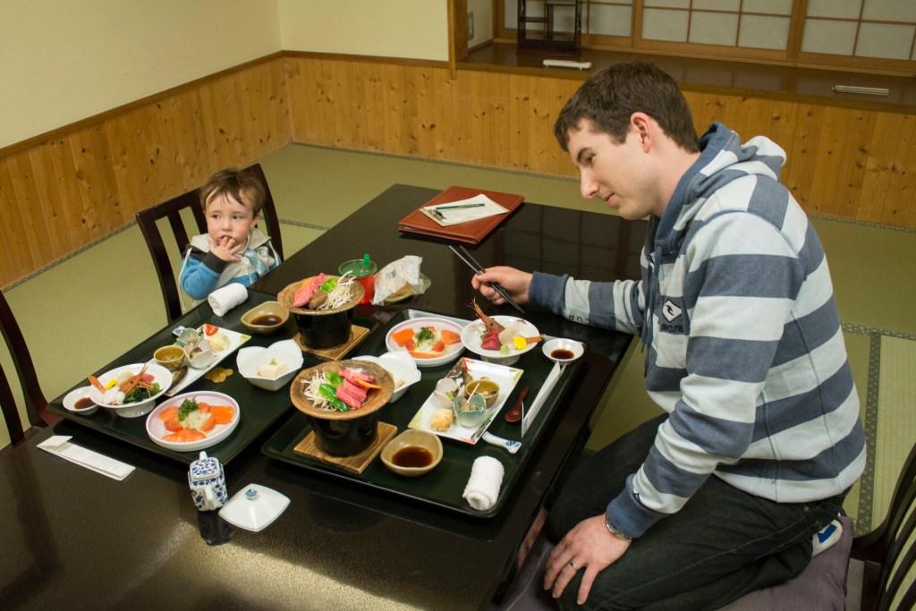 Kaiseki dinner at Takayama ryokan