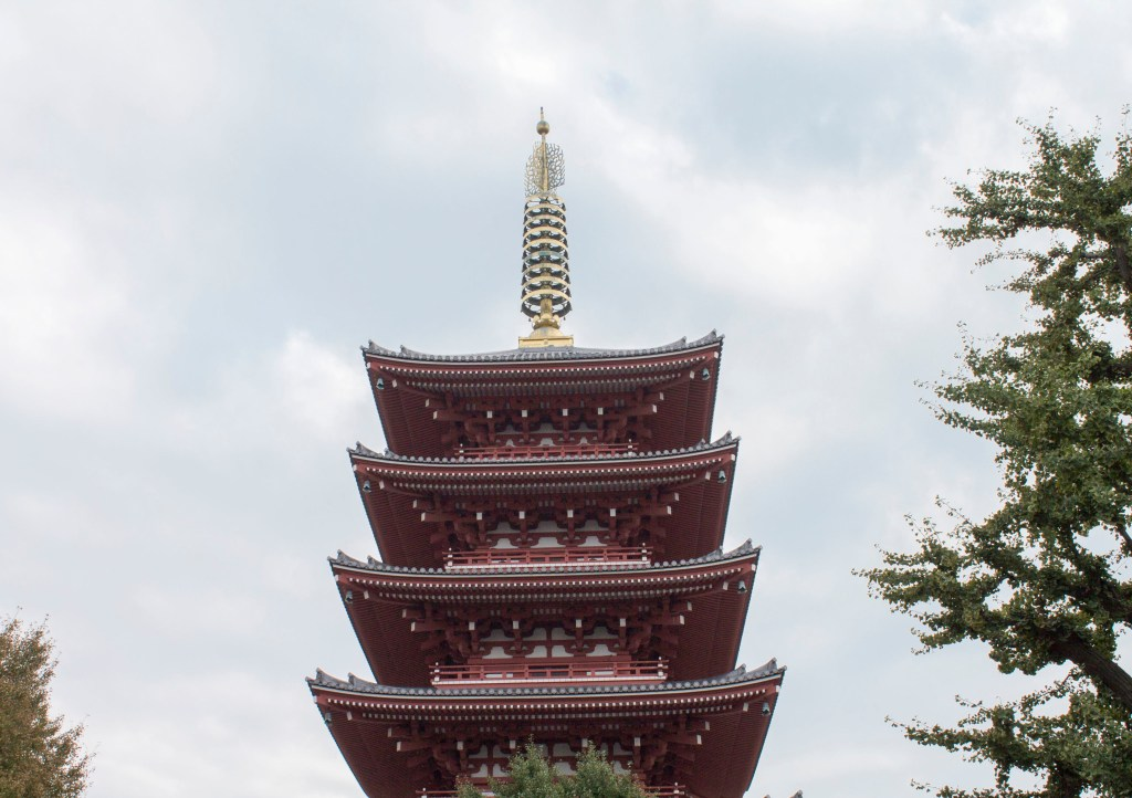 SSensoji five storied pagoda