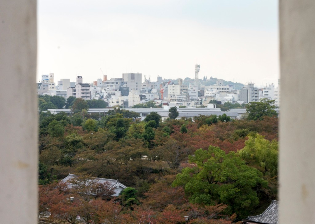 View from Himeji Castle loophole