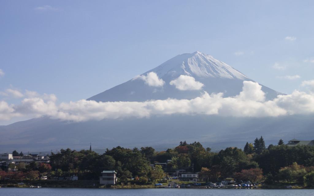 Mt Fuji and Lake Saiko