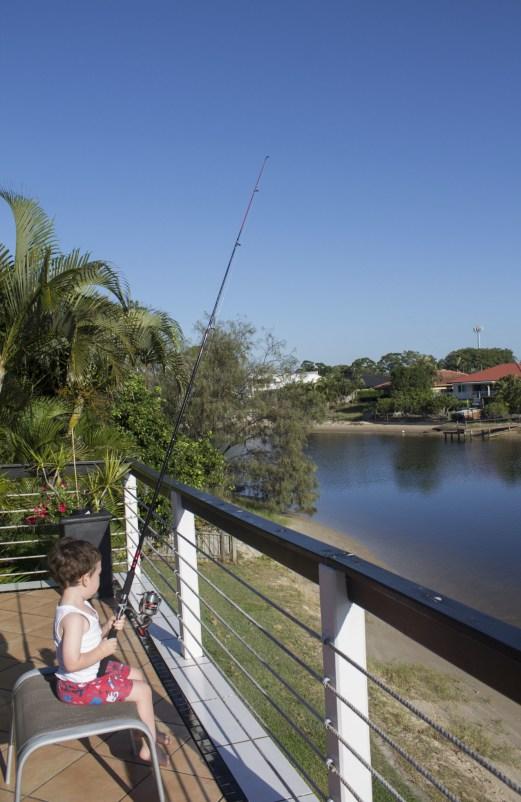 """fishing"" of the balcony"