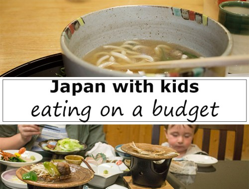 Eating in Japan with kids