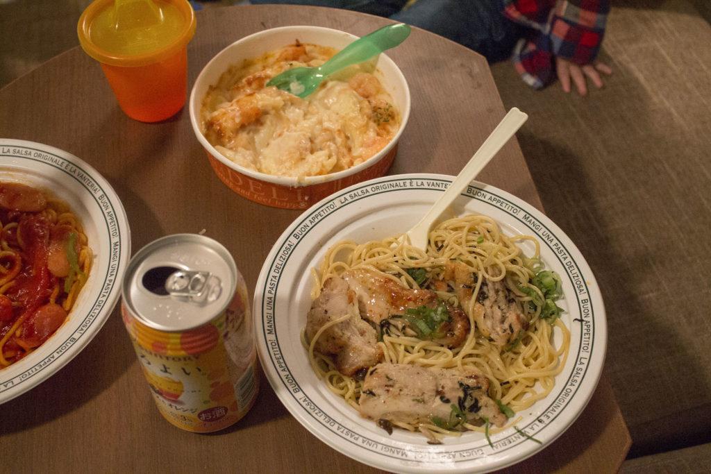 Japanese convenient store dinner