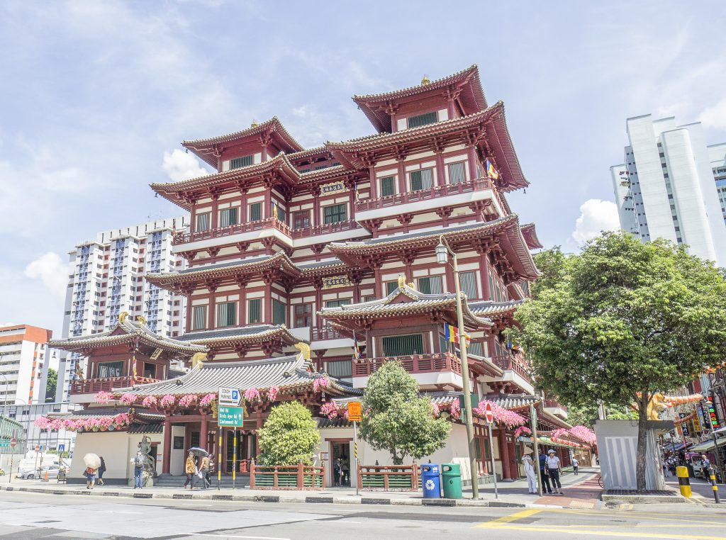 Buddha tooth relic temple in Singapore we visited during a family trip