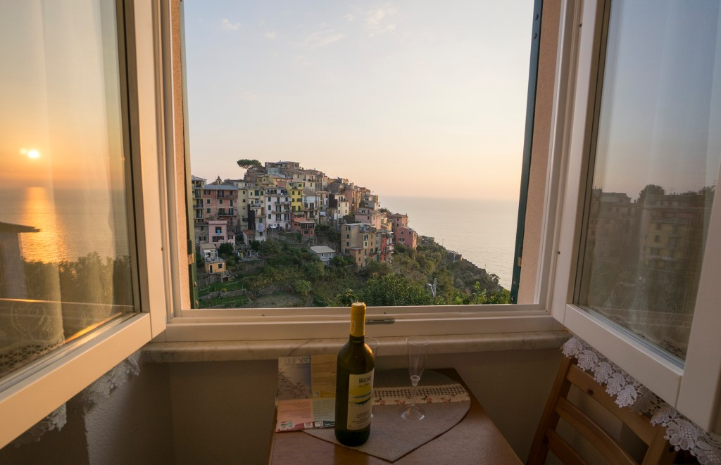 View from window in our AirBnB in Corniglia on Italy's Cinque Terre