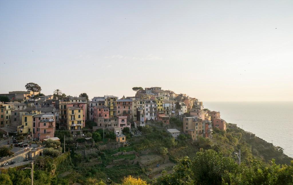Sunset view in Corniglia on the Cinque Terre