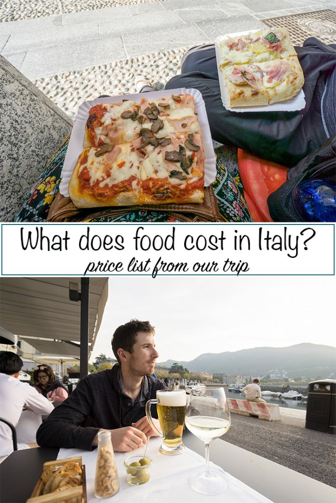 Food cost in Italy