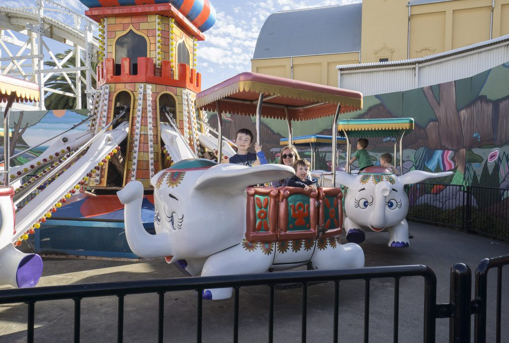 Rides for young kids Luna Park