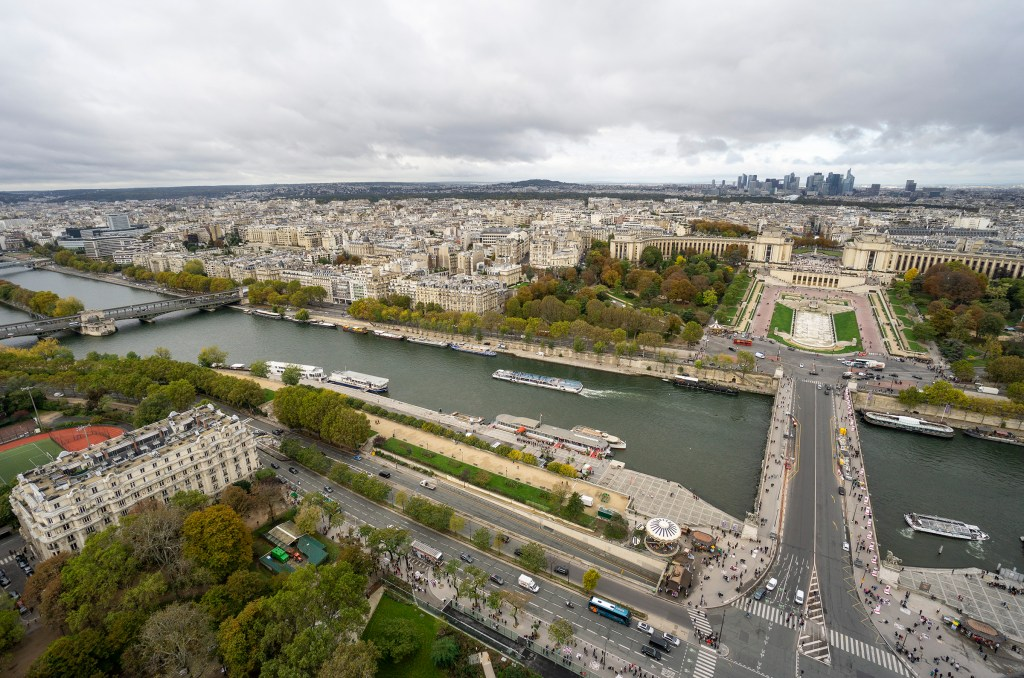 View looking out from Eiffel Tower