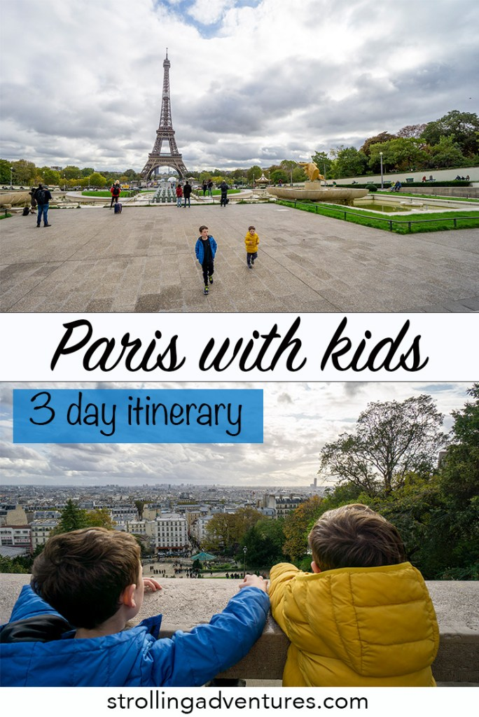 Paris with kids 3 day itinerary